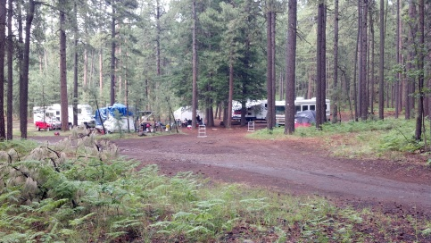 the campsite, wet & cool, sure beats 112 degrees down south!