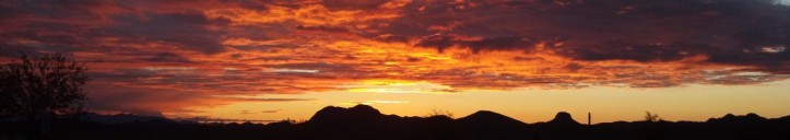 Sunset from Roadrunner Campground, Lake Pleasant, Maricopa County Parks Arizona