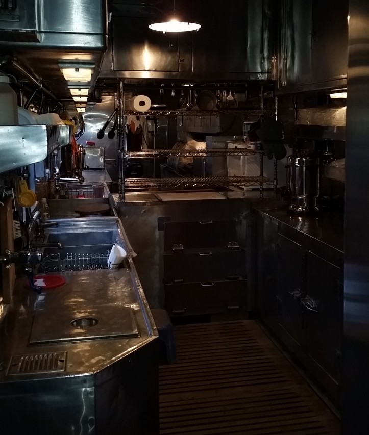 Kitchen in1949 A.C.F Dining Car